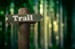 Forest Trail Sign Royalty Free Stock Images