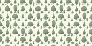 Forest trees as seamless background Stock Image