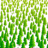 Forest of trees background Stock Photo