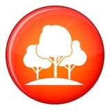 Forest trees icon, flat style Royalty Free Stock Photography