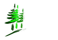 Forest Trees Logo  Royalty Free Stock Images