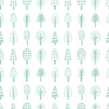 Forest trees nordic seamless pattern Stock Photography