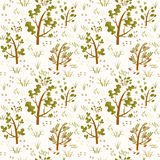Forest trees seamless pattern stock photo