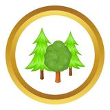 Forest trees vector icon Stock Image