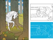 Forest Unicorn Fotografia Stock