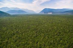 Forest Valley e montanhas do ar Imagens de Stock Royalty Free
