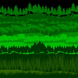 Forest vector set. Vector illustration Stock Photography
