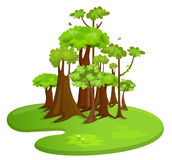 Forest. Vector stylized illustration of a forest Stock Photo