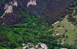 Forest and village, France Royalty Free Stock Photos