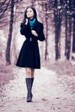 forest walking woman young Στοκ εικόνες με δικαίωμα ελεύθερης χρήσης
