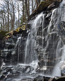 Forest waterfall in black stone mountain in Sweden Royalty Free Stock Photography