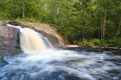 Forest waterfall in Karelia Royalty Free Stock Photo