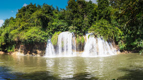Forest waterfall at National Park, Panorama Stock Image