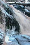 Forest waterfall in winter Stock Image