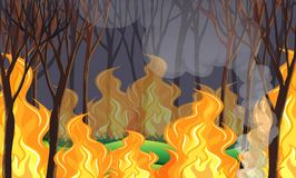 Forest Wildfire Disaster illustration de vecteur
