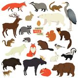 Forest Wildlife Isolated heeft Dieren bezwaar stock illustratie