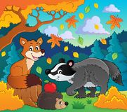 Forest wildlife theme image 1. Eps10 vector illustration Stock Photos
