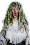 Forest witch. On white isolated background Stock Image