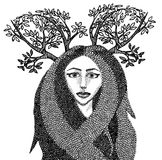 Forest witch Stock Images