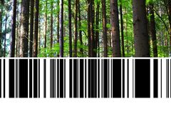 Free Forest With Barcode Royalty Free Stock Photography - 99013967