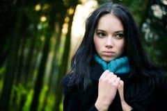 forest woman young Στοκ Φωτογραφία