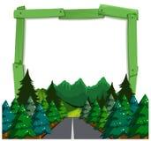 A forest wooden frame Vector Illustration