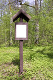 Forest wooden red sign Royalty Free Stock Photos