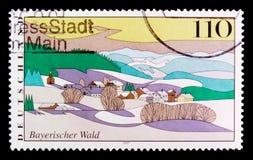 Foresta bavarese, viste dal serie della Germania, circa 1997 Fotografie Stock Libere da Diritti