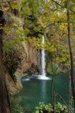 Foresta, cascata e fiume del parco nazionale di Plitvice Fotografie Stock