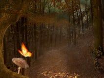Foresta d'autunno illustrazione vettoriale