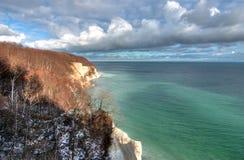 Foresta dall'oceano scenico Fotografie Stock