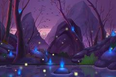 Foresta del fantasma illustrazione di stock