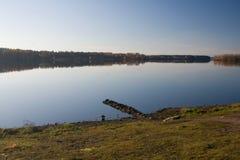 Foresta del lago autumn Fotografia Stock Libera da Diritti