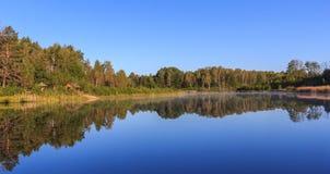 Foresta del lago reflection Fotografia Stock Libera da Diritti