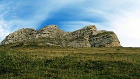 Foresta del montain del paesaggio in alpi francesi Fotografie Stock