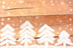 Foresta dell'abete bianco del Colorado nell'inverno Fotografia Stock