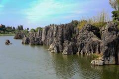 Foresta della pietra di Shilin a Kunming il Yunnan Fotografia Stock Libera da Diritti