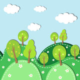 Foresta della primavera senza cuciture Immagine Stock