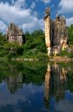Foresta della roccia granitica caolinizzata Immagini Stock