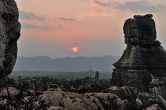 Foresta della roccia granitica caolinizzata Immagine Stock