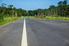 Foresta della strada campestre in Tailandia Fotografia Stock