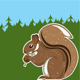 Foresta dello scoiattolo Immagine Stock Libera da Diritti