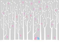Foresta di amore illustrazione vettoriale
