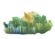 Foresta di estate, pittura del disegno di astrazione illustrazione di stock