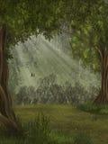 Foresta di fantasia illustrazione di stock