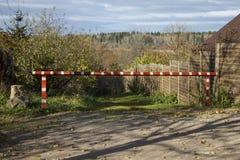 Foresta e barriera Fotografia Stock