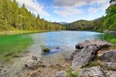 Foresta e montagna del lago Fotografia Stock Libera da Diritti