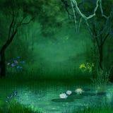 Foresta fantastica Fotografie Stock