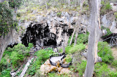Foresta incavata e calcare alla caverna del lago Fotografia Stock Libera da Diritti