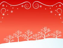 Foresta in inverno royalty illustrazione gratis